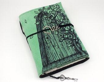 Secret Door, Handmade Leather Journal, Notebook