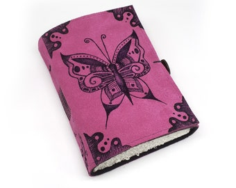 Butterfly, Handmade Leather Journal, Notebook
