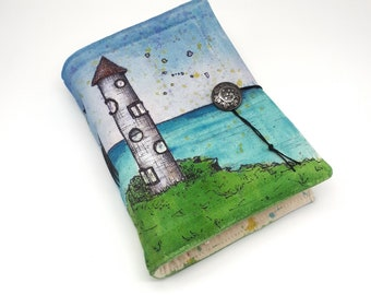 Home Sweet Home, Handmade journal, one of a kind, painted canvas