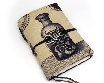 Potion, Handmade Leather Journal, Notebook