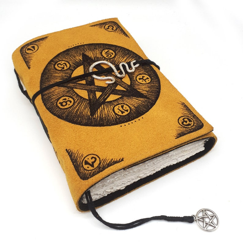 Grimoire Handmade Leather Journal Notebook image 0