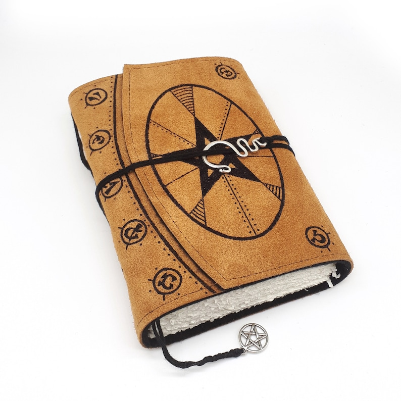 Book of Shadows Handmade Leather Journal Notebook image 0