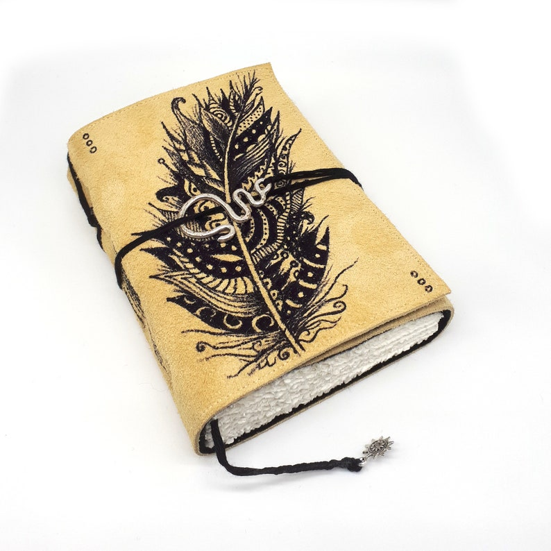 Lost Feather Handmade Leather Journal Notebook image 0