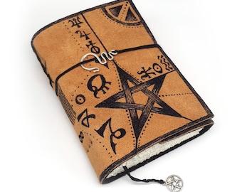 Spellbook, Handmade Leather Journal, Notebook