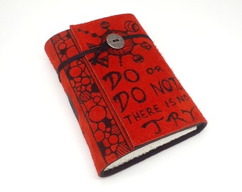 Do or do not, Handmade Leather Journal, Notebook