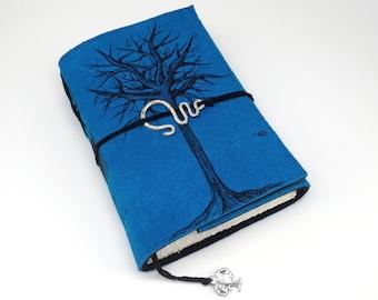 Winter Tree, Handmade Leather Journal, Notebook