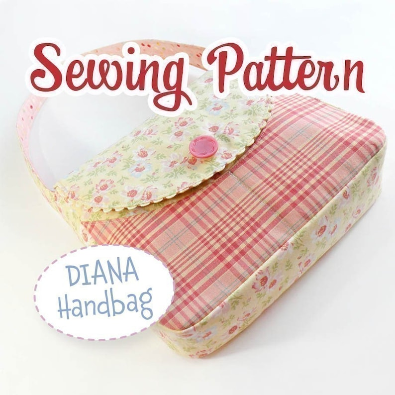 PDF SEWING PATTERN  Diana Handbag by iSew  Instant Download image 0