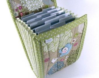 Circular Needle Case - Flower Collage - Accordion Style Needle Holder Needle Wallet Circular Needle Organizer Organiser polka dots