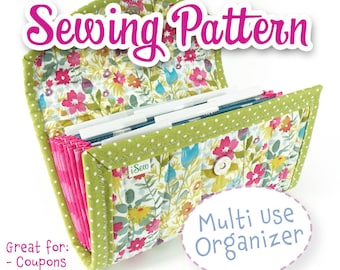 SEWING PATTERN - Accordion Style Organizer for Coupons Receipts Cash