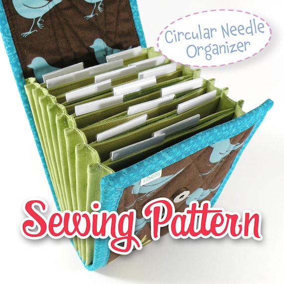 Pdf Sewing Pattern Circular Needle Organizer Knitting Needle Etsy