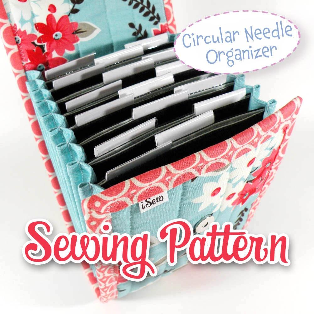 PDF SEWING PATTERN - Circular Needle Organizer Knitting Needle ...