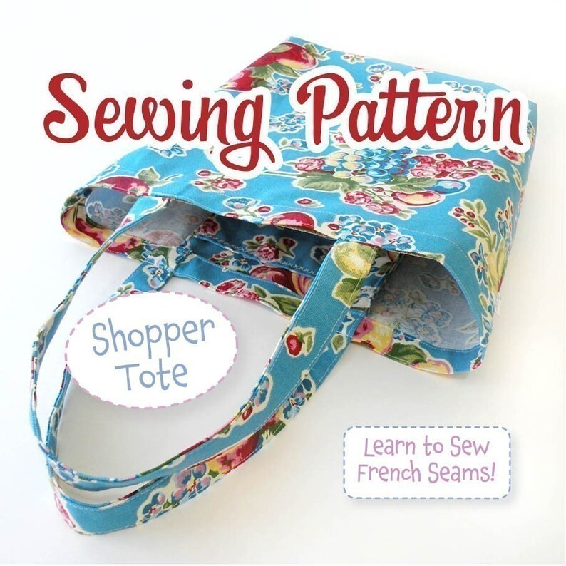 PDF SEWING PATTERN  Shopper Tote  Instant Download image 0