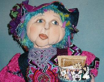 Crazy Cat Lady oaak cloth doll