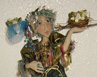 """Elton The Fairy Finder, 15"""" cloth doll e-pattern"""