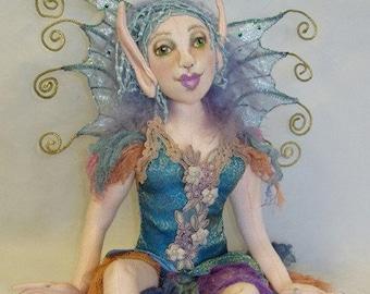Laureli, a 14 inch Cloth Doll Fairy