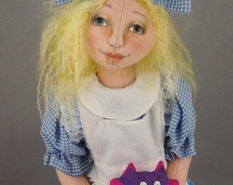ALICE A 21 inch Felt Doll e-Pattern by Patti LaValley