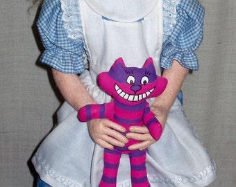 """Alice, 21"""" cloth doll e-pattern, plus Cheshire cat!"""