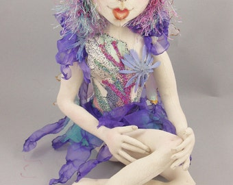 """Ambrosia is a 10"""" sitting fairy e-pattern. Very detailed instructions to make this cloth doll!"""