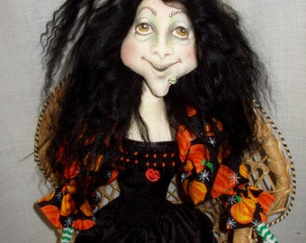 THE GINGERBREAD WITCH A 28' Wall Doll by Patti LaValley   E-pattern for doll
