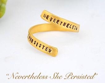 Nevertheless Ring Etsy