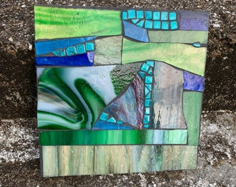 Ambition Abstract Stained Glass Mosaic Art