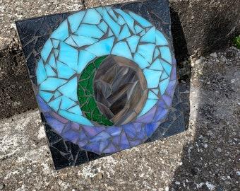 Zombie Eye Stained Glass Mosaic Wall Art