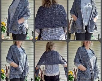 PDF Crochet Pattern for Shells Pocket Wrap PATTERN Only