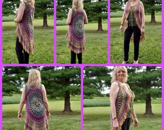 Crochet Woods Nymph Vest FREE Shipping in USA