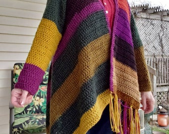 PDF Crochet Pattern for Blanket Cardigan PATTERN only