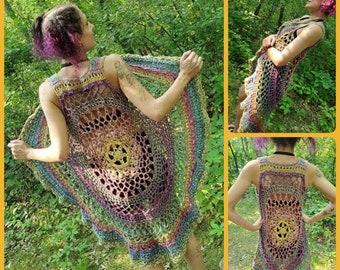 PDF Crochet PATTERN for Woods Nymph Vest Immediate Download