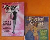1940 39 s - Two Copies of New Physical Culture Magazine, May 1945 and March 1946