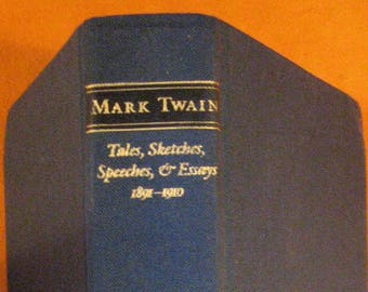 Mark Twain Essays  Etsy Mark Twain Collected Tales Sketches Speeches And Essays   Library Of America Essay Topics High School also Business Plan Writers Nz  Essay Format Example For High School