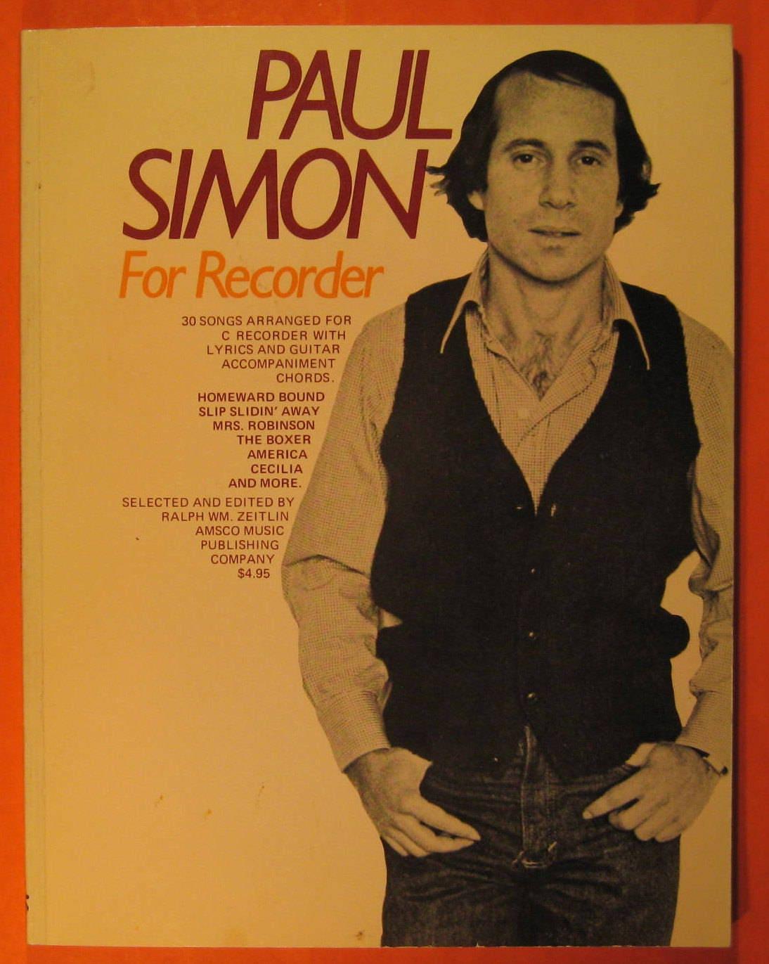 Paul Simon For Recorder Etsy