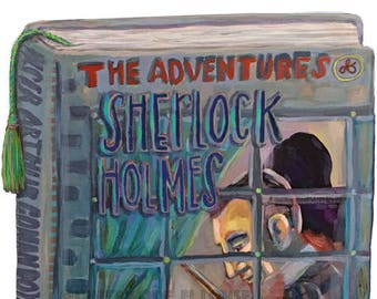 Sherlock Holmes cover • art/giclee print • series • portrait • book • study • literature • mystery • friend • arthur conan doyle • adventure