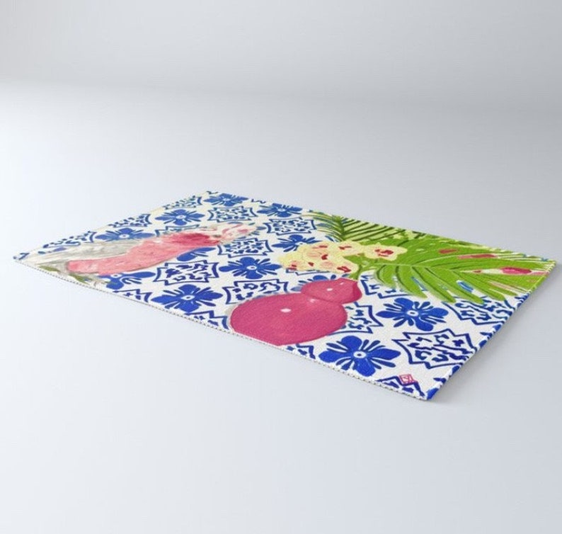 PINK PARROT Rug  2 size options image 0