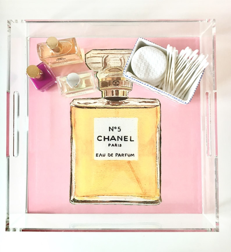 CLASSIC FRENCH PERFUME no 5 pink & black 2 images image 0