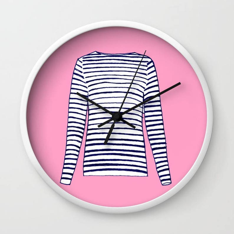 FRENCH STRIPED SHIRT Clock image 0