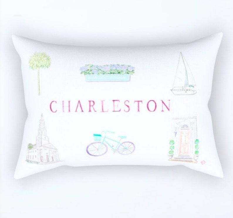 CHARLESTON Rectangular Pillow  3 Sizes image 0
