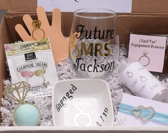 Engagement Gift Box For Best Friend | Engagement Gift Box |  Engagement Gift For Her | Engagement Gift Box For Bride | Future MRS Gift Box
