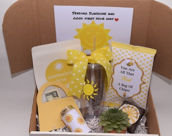 box of sunshine get well gift thank you gift friend etsy