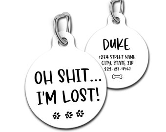 Single Sided Pet ID Tag oh ... i/'m lost