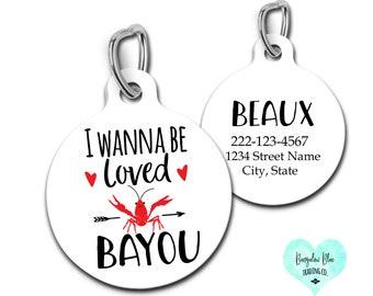 Cajun Crawfish Valentine Tea Towel I Wanna Be Loved Bayou