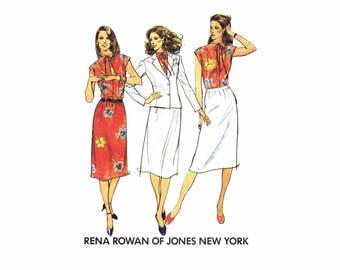 05b0964d6e5ada Rena Rowan Jacke Bluse Rock Jones New York Butt 6991 Schnittmuster Größe 14  Fehlschlag 36 ungeschnitten