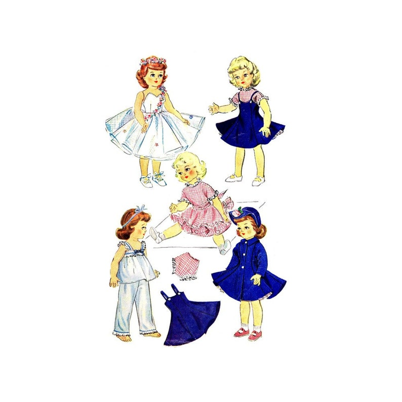 1950s Doll Clothes Sweet Sue Toni Maggie Alice Harriet Hubbard Ayer McCalls 1983 Vintage Sewing Pattern ORIGINAL