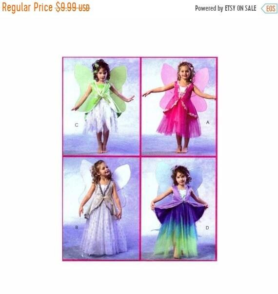 Verkauf Mädchen Fee Kleid Kostüm Schnittmuster McCalls 4887 | Etsy
