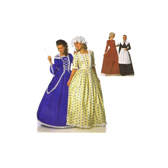 Misses Medieval Dress Costumes McCalls P306 Sewing Pattern Size 6 ...