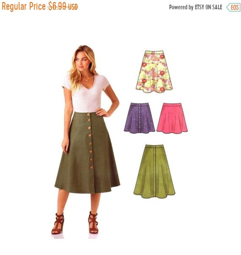 40f1f2634f SALE Misses Easy Skirts New Look S0449 Sewing Pattern Size 8 | Etsy