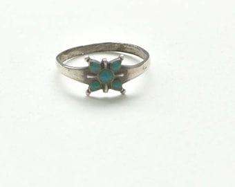 Turquoise and Sterling silver Butterfly ring SMALL SALE
