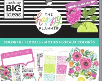 Colourful floral stickers 613 Create 365™ The Happy Planner™ Sticker value