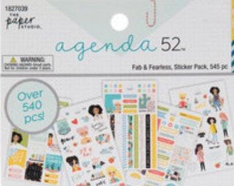 Agenda 52 Stickers girls sticker pack 540 Fab Fearless Sticker pack